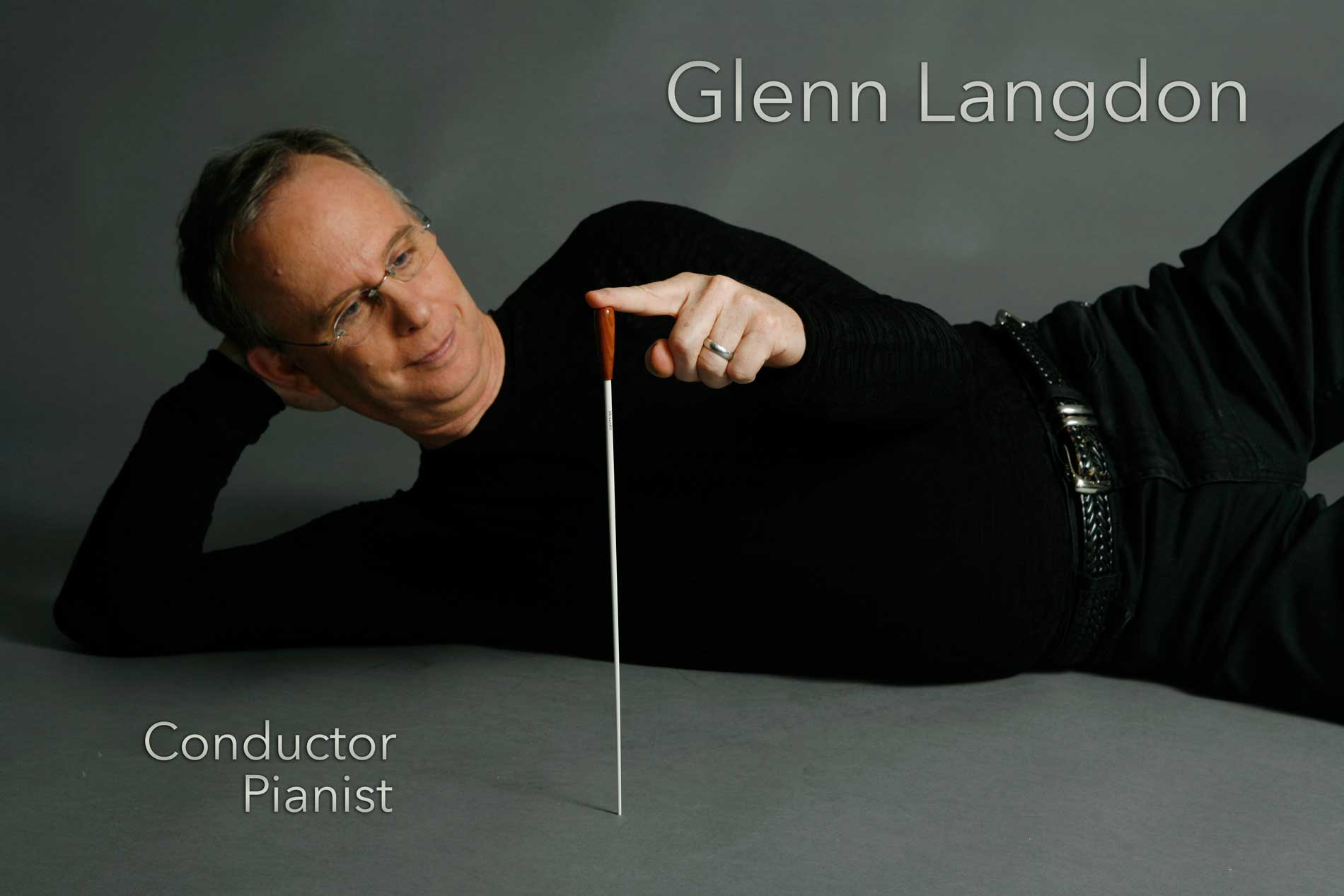 Glenn Langdon with baton